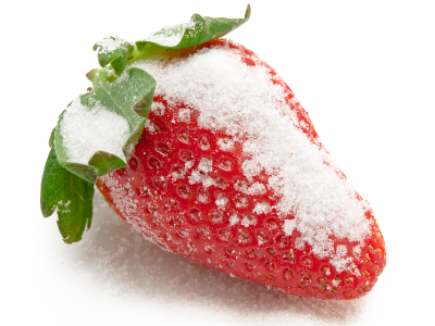strawberry in sugar